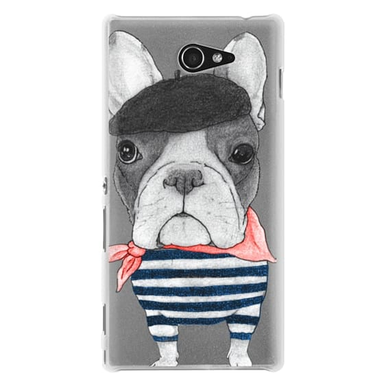 Sony M2 Cases - French Bulldog (transparent)