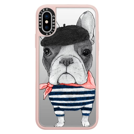 iPhone X Cases - French Bulldog (transparent)
