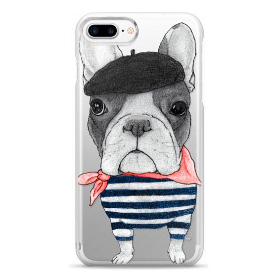 iPhone 7 Plus Cases - French Bulldog (transparent)