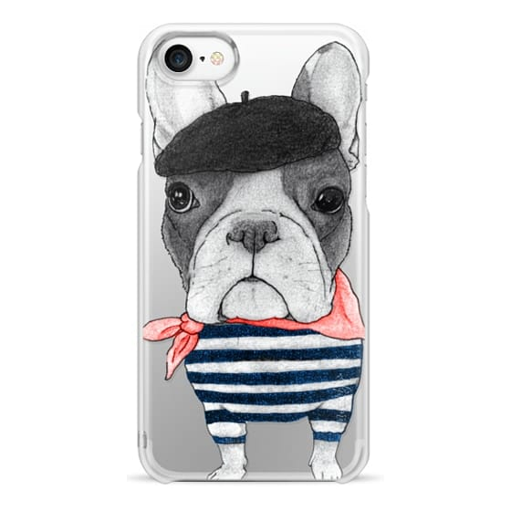 iPhone 7 Cases - French Bulldog (transparent)