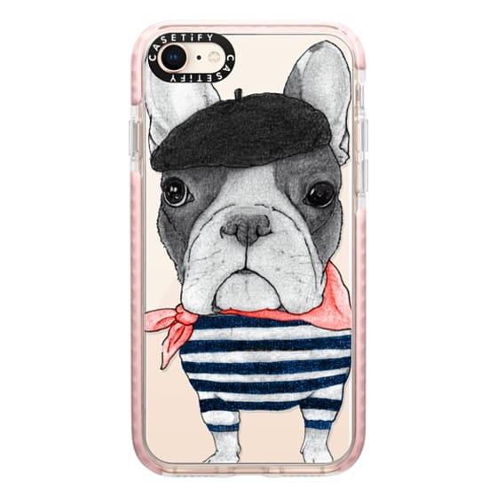 iPhone 8 Cases - French Bulldog (transparent)