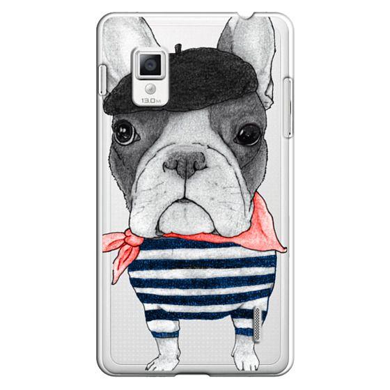 Optimus G Cases - French Bulldog (transparent)