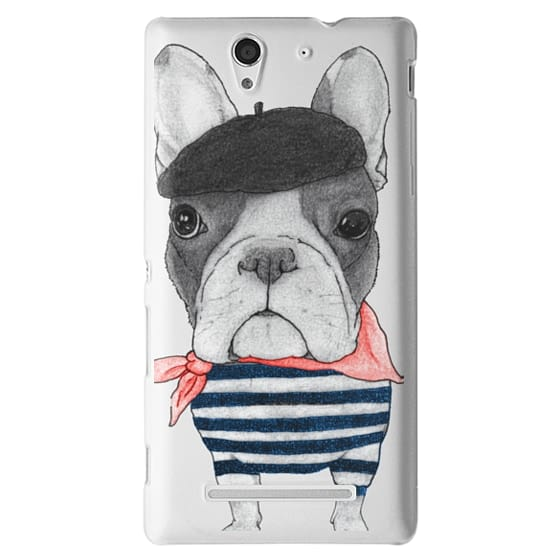 Sony C3 Cases - French Bulldog (transparent)