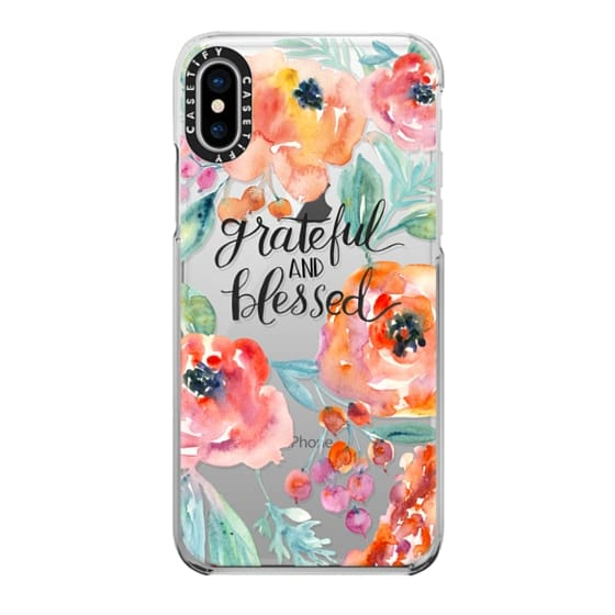 iPhone X Cases - Grateful and Blessed