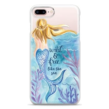 Snap iPhone 7 Plus Case - Wild and Free Mermaid Blond