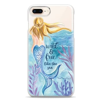 Snap iPhone 8 Plus Case - Wild and Free Mermaid Blond