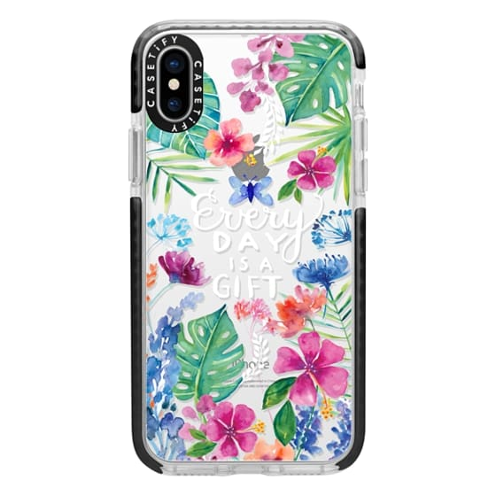 iPhone X Cases - Every Day is a Gift Tropical