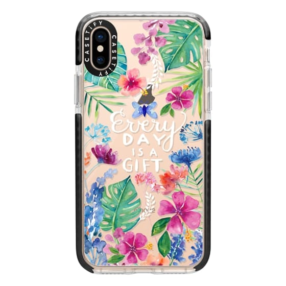 iPhone XS Cases - Every Day is a Gift Tropical
