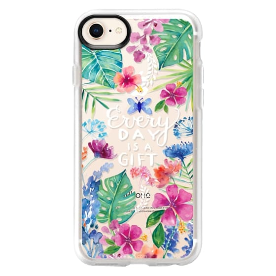 iPhone 8 Cases - Every Day is a Gift Tropical