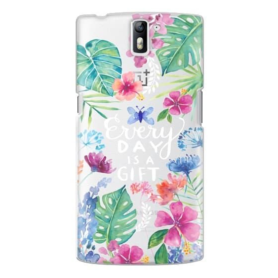 One Plus One Cases - Every Day is a Gift Tropical