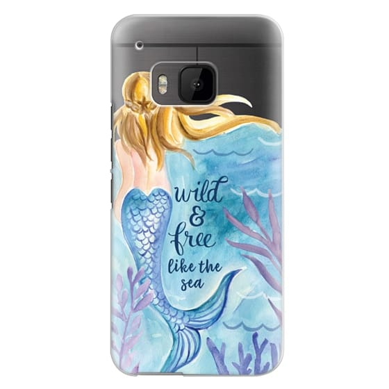 Htc One M9 Cases - Wild and Free Mermaid Blond