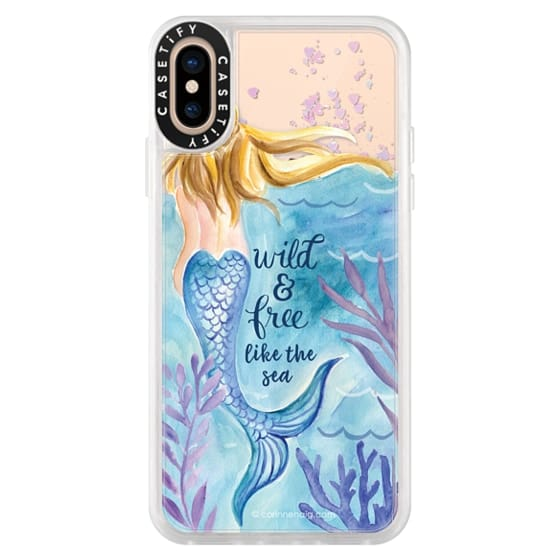 iPhone XS Cases - Wild and Free Mermaid Blond