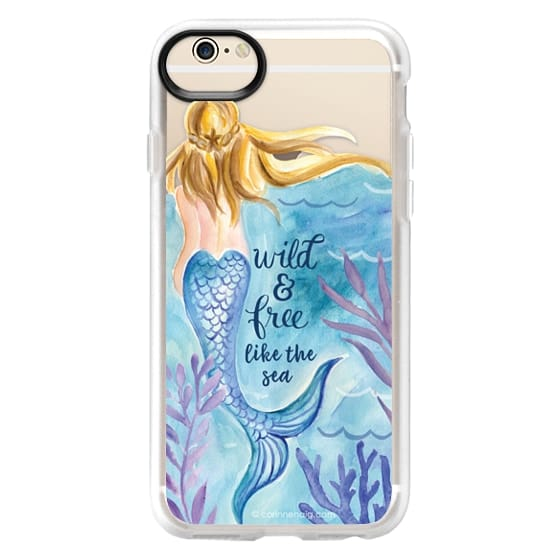 iPhone 6 Cases - Wild and Free Mermaid Blond