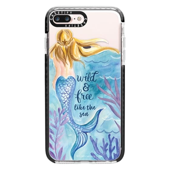 iPhone 7 Plus Cases - Wild and Free Mermaid Blond