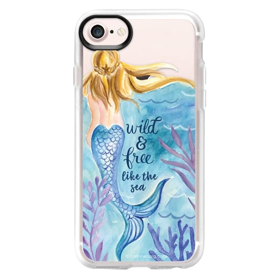 iPhone 7 Cases - Wild and Free Mermaid Blond