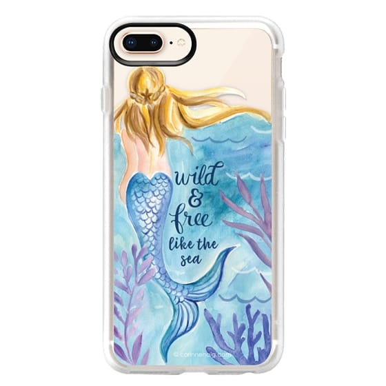 iPhone 8 Plus Cases - Wild and Free Mermaid Blond