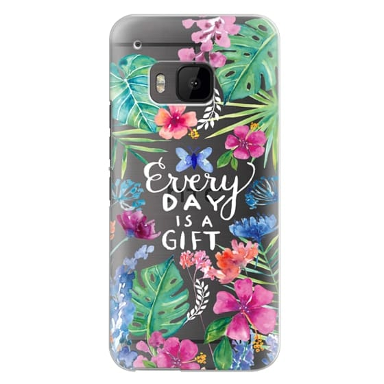 Htc One M9 Cases - Every Day is a Gift Tropical