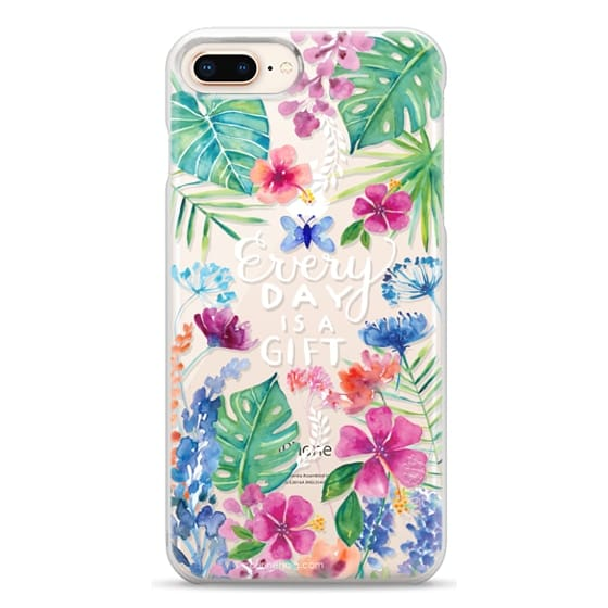 iPhone 8 Plus Cases - Every Day is a Gift Tropical