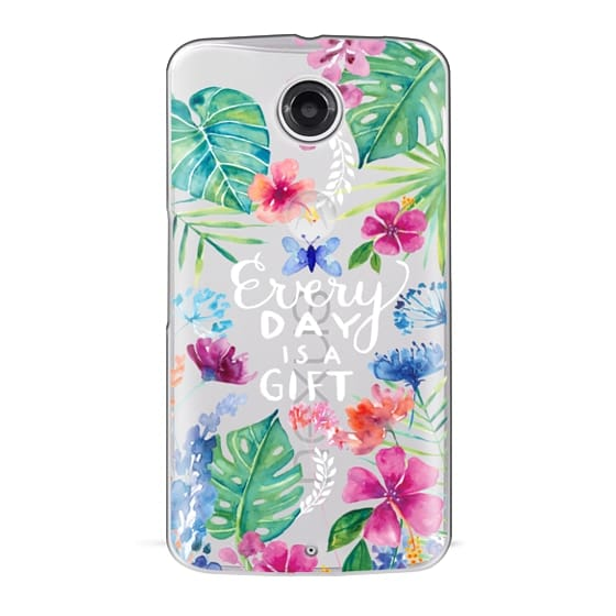 Nexus 6 Cases - Every Day is a Gift Tropical