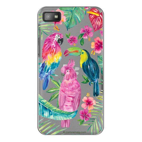 Blackberry Z10 Cases - Tropical Birds Transparent