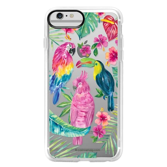 iPhone 6 Plus Cases - Tropical Birds Transparent