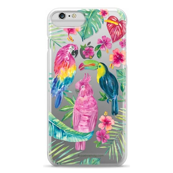 iPhone 6 Plus Cases - Tropical Birds Transparent