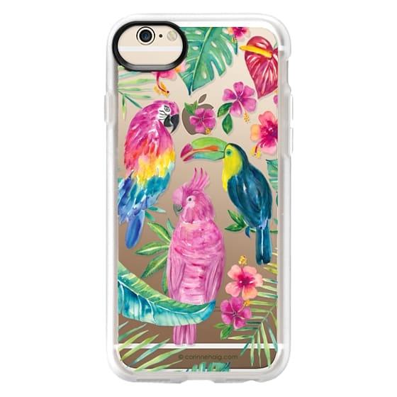 iPhone 6 Cases - Tropical Birds Transparent