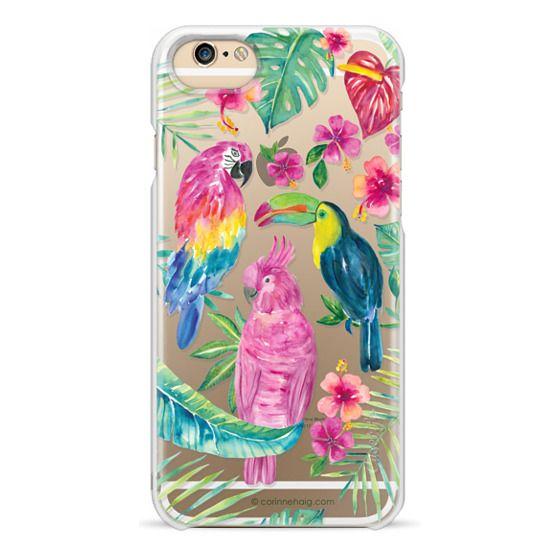 iPhone 6 Cases - Tropical Birds Transparent