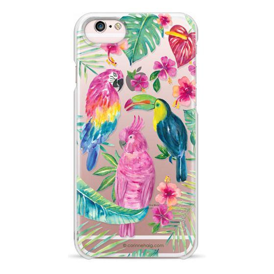 iPhone 6s Cases - Tropical Birds Transparent
