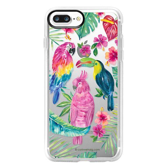 iPhone 7 Plus Cases - Tropical Birds Transparent