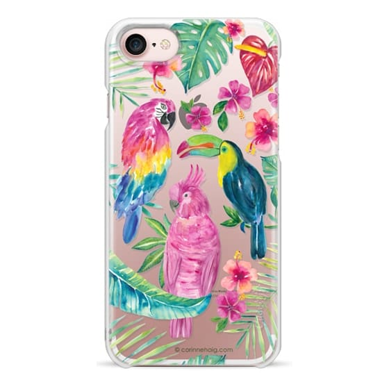 iPhone 7 Cases - Tropical Birds Transparent