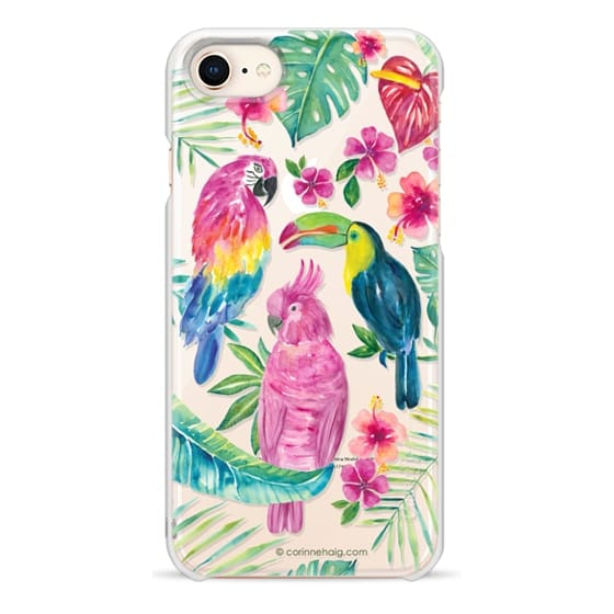 iPhone 8 Cases - Tropical Birds Transparent