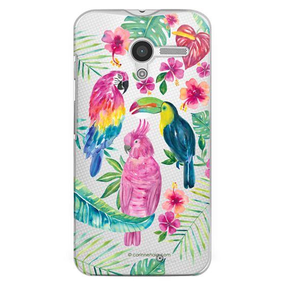Moto X Cases - Tropical Birds Transparent