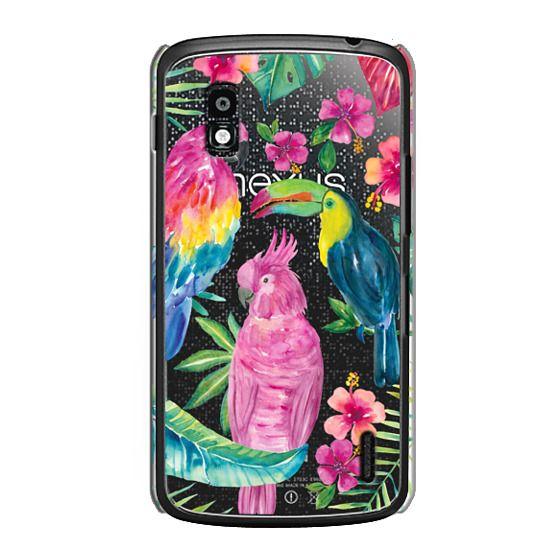Nexus 4 Cases - Tropical Birds Transparent
