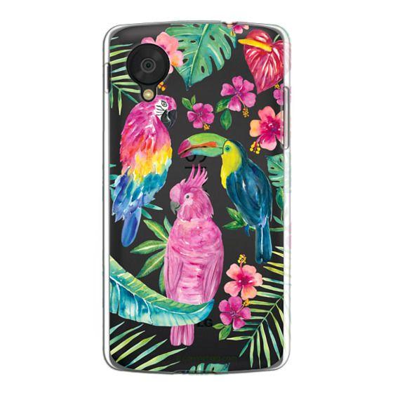 Nexus 5 Cases - Tropical Birds Transparent