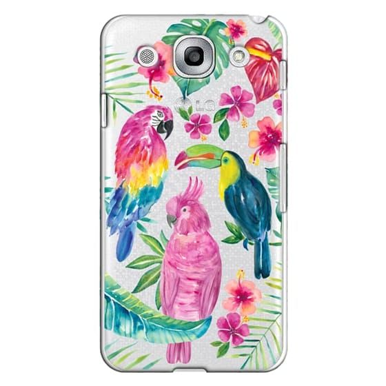 Optimus G Pro Cases - Tropical Birds Transparent