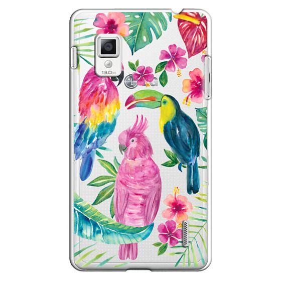 Optimus G Cases - Tropical Birds Transparent
