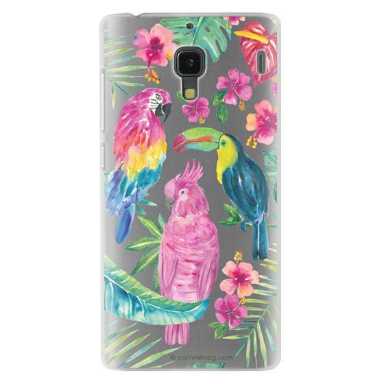 Redmi 1s Cases - Tropical Birds Transparent