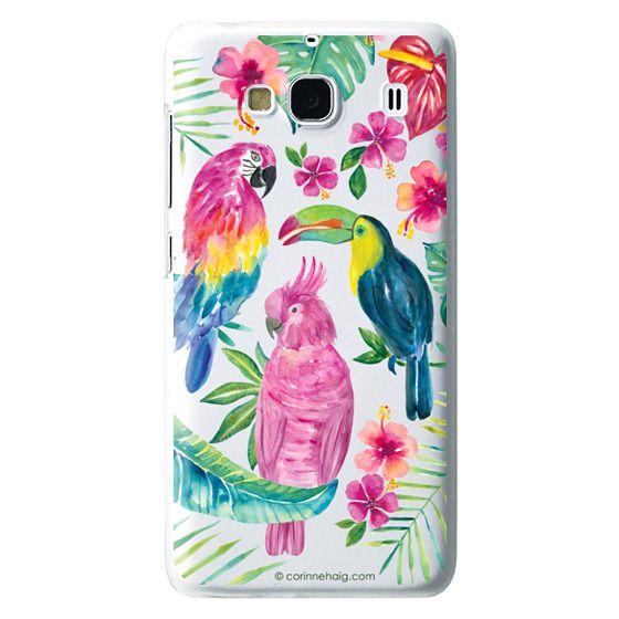 Redmi 2 Cases - Tropical Birds Transparent