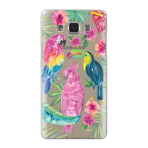 Samsung Galaxy A5 Cases - Tropical Birds Transparent