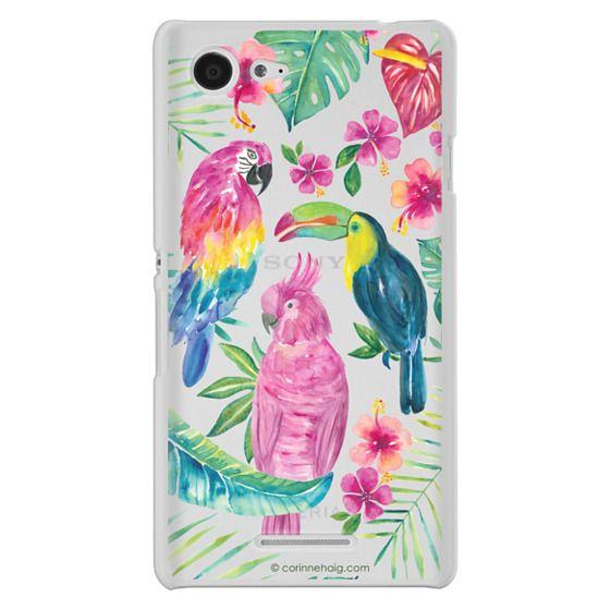 Sony E3 Cases - Tropical Birds Transparent