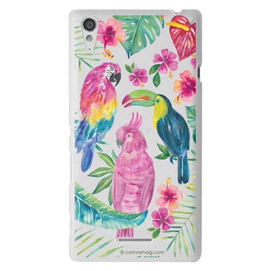 Sony T3 Cases - Tropical Birds Transparent