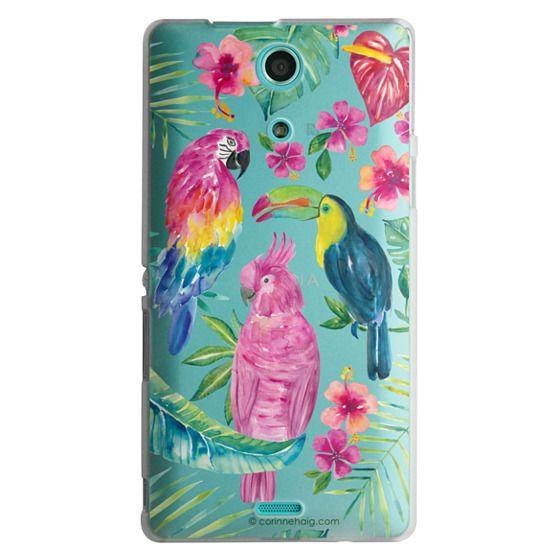 Sony Zr Cases - Tropical Birds Transparent