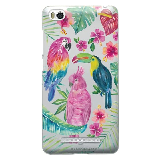Xiaomi 4i Cases - Tropical Birds Transparent