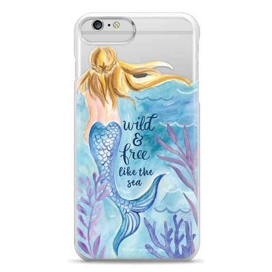 iPhone 6 Plus Cases - Wild and Free Mermaid Blond