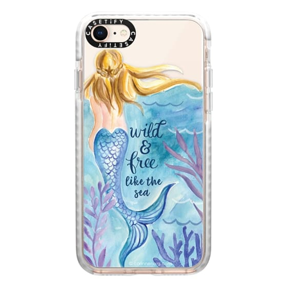 iPhone 8 Cases - Wild and Free Mermaid Blond