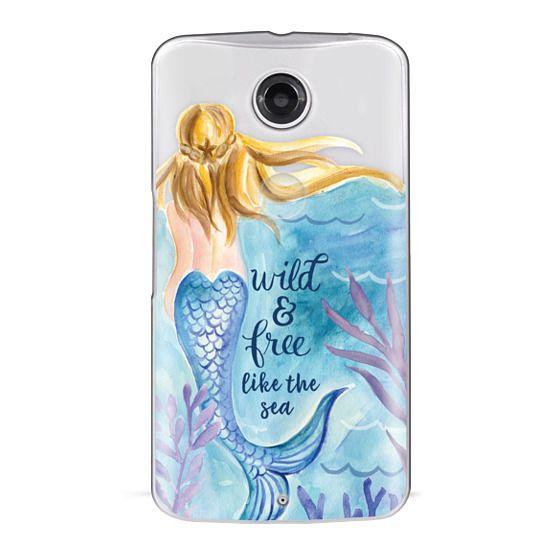 Nexus 6 Cases - Wild and Free Mermaid Blond