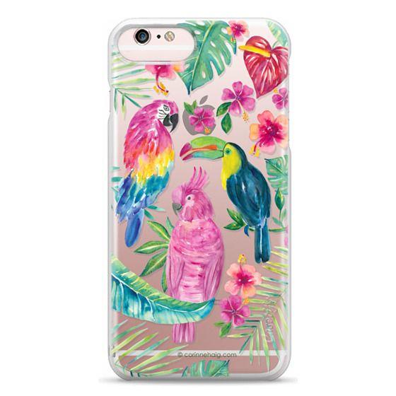 iPhone 6s Plus Cases - Tropical Birds Transparent