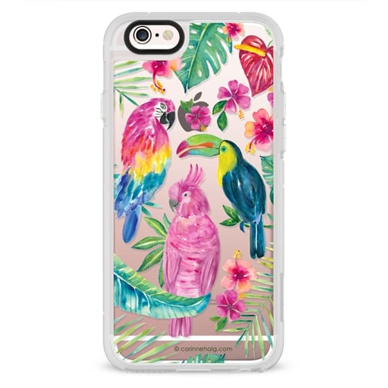 iPhone 6s Cases - Tropical Birds Transparent