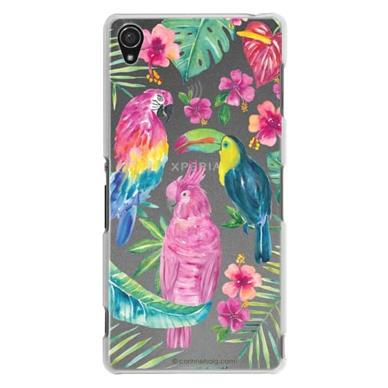 Sony Z3 Cases - Tropical Birds Transparent